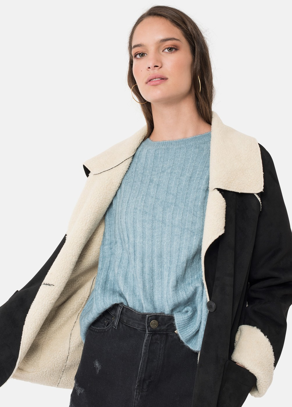 JACQUELINE CROSSOVER DOUBLE BREASTED RAINCOAT