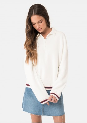 POLO NECK STREET SWEATSHIRT
