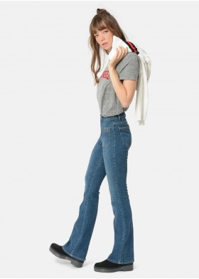 MARAIA MEDIUM LENGTH BELL-BOTTOM JEANS