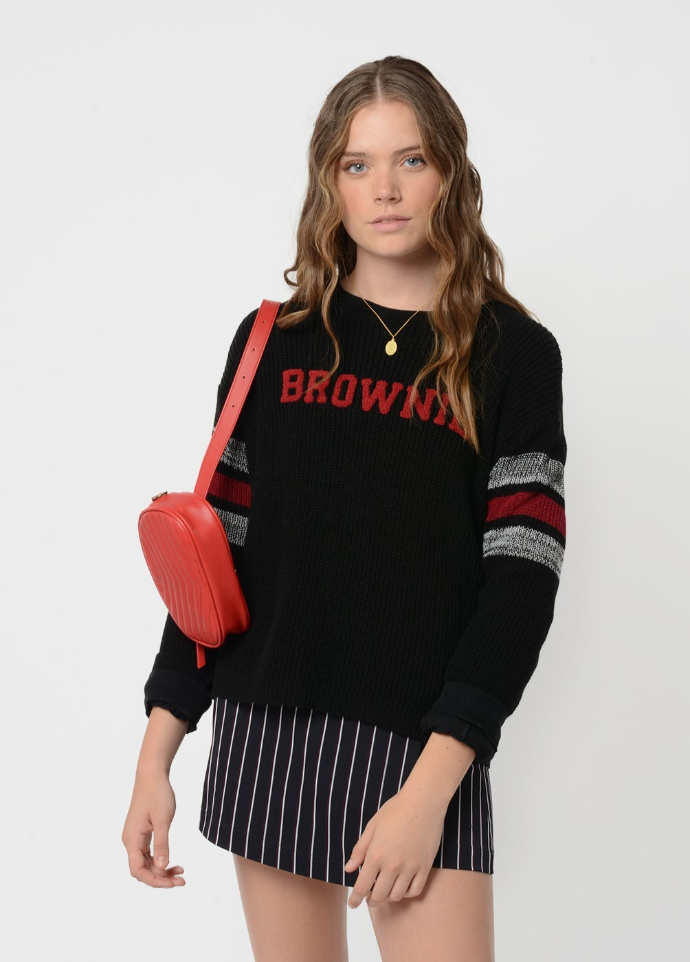 GARNET BROWNIE EMBROIDERED SWEATSHIRT