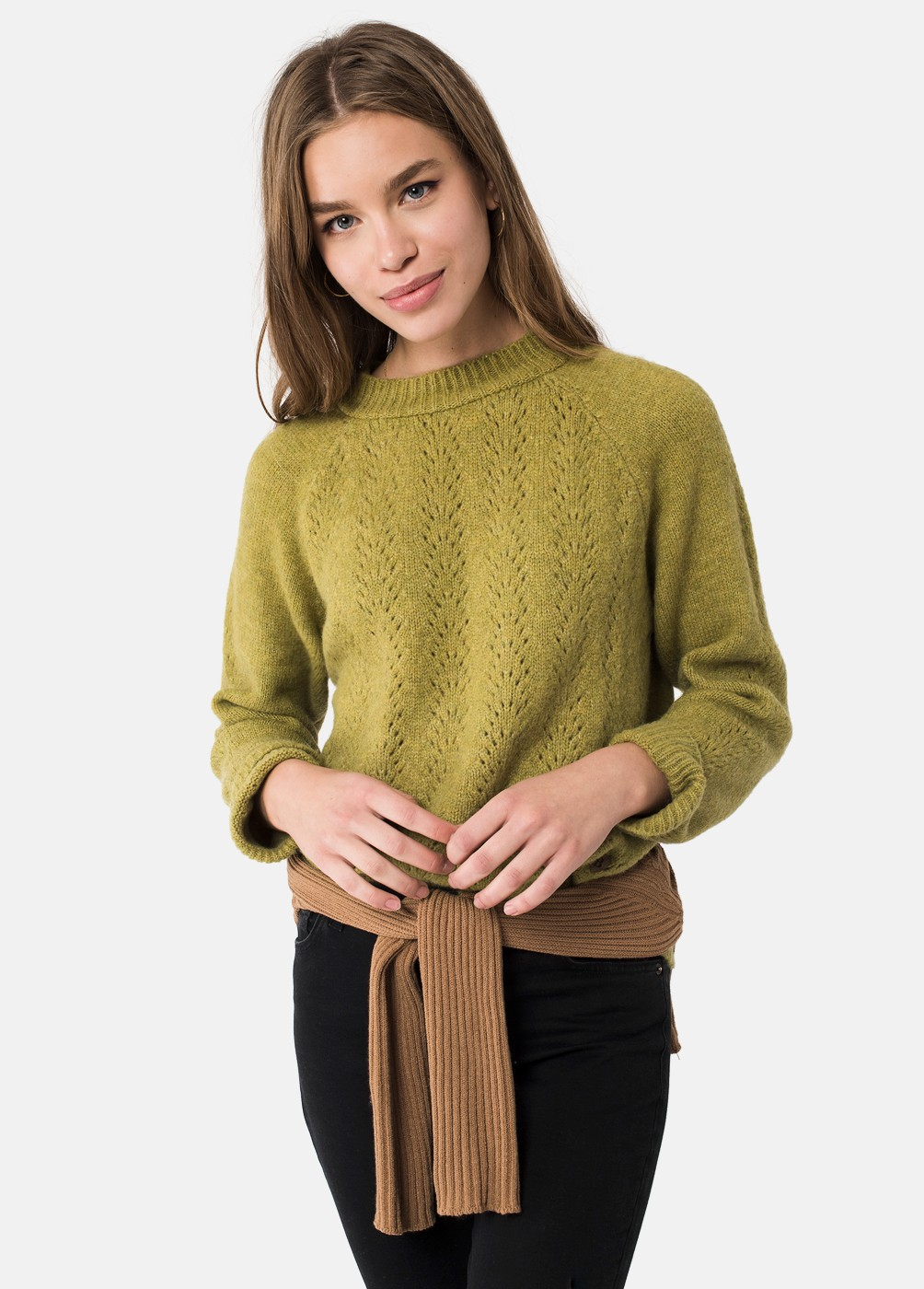 BRESSAY KNITTED FRONT PLUNGED JUMPER