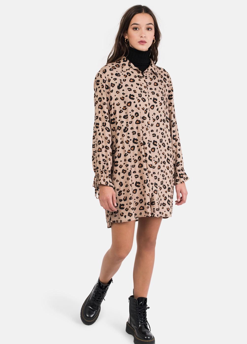 85a0d4b2c7 Vestido Libra Camisero Animal Print