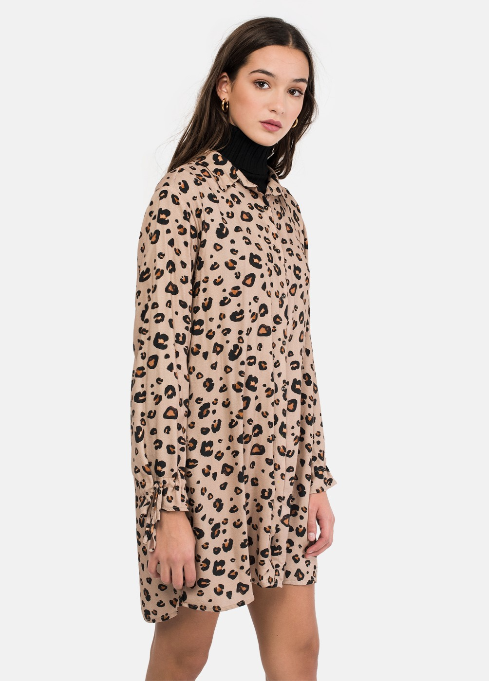 LIBRA ANIMAL PRINT SHIRT DRESS