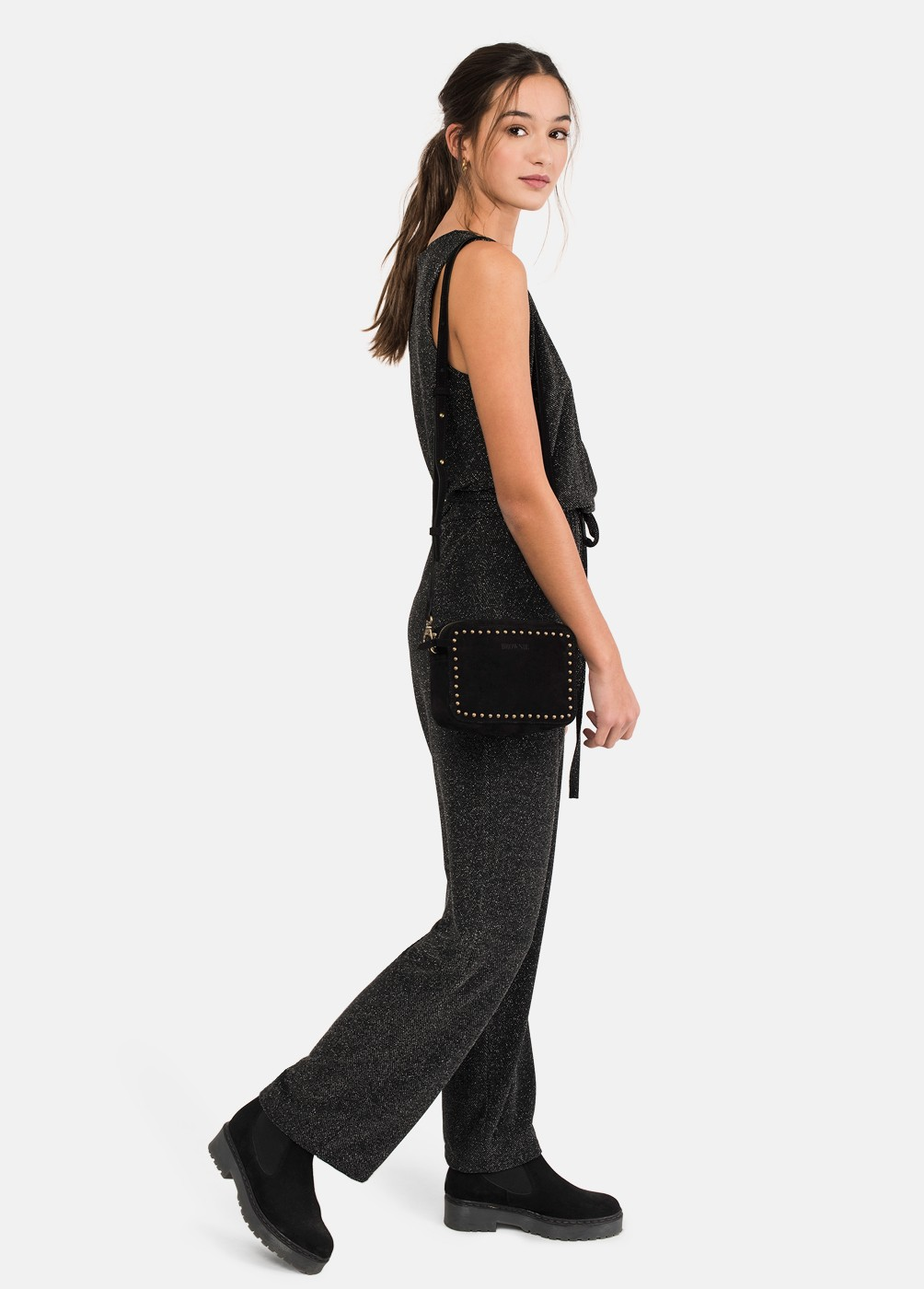 MONO PANTALON NIGHT STRASS CRUCE ESCOTE