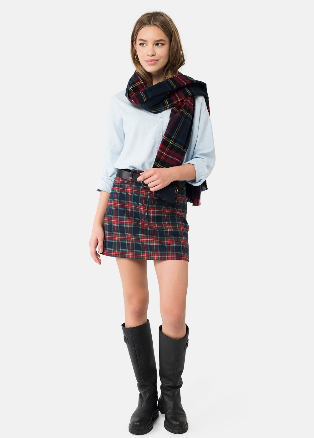 SCOTTISH CHECK SCARF
