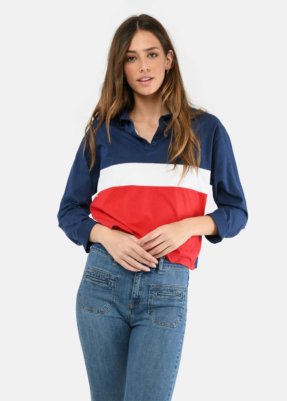 Camiseta Polo Duet Ml Franjas Colores