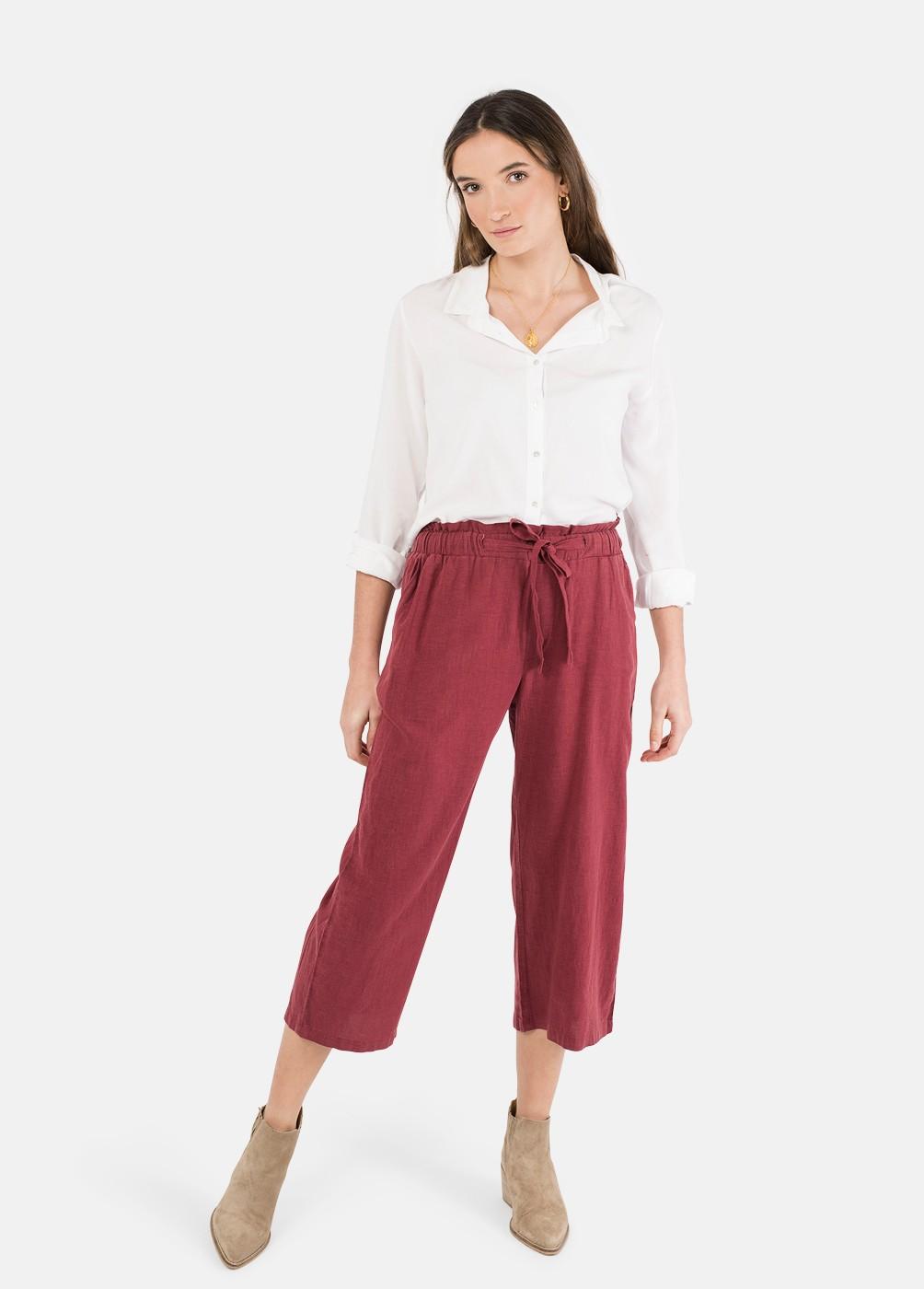 Pantalon Amapola Lino Cropped
