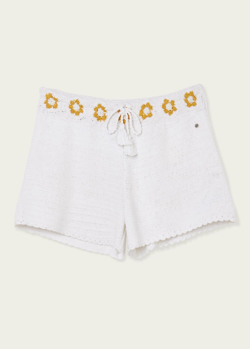 Short Haiti Crochet Flor  - 5