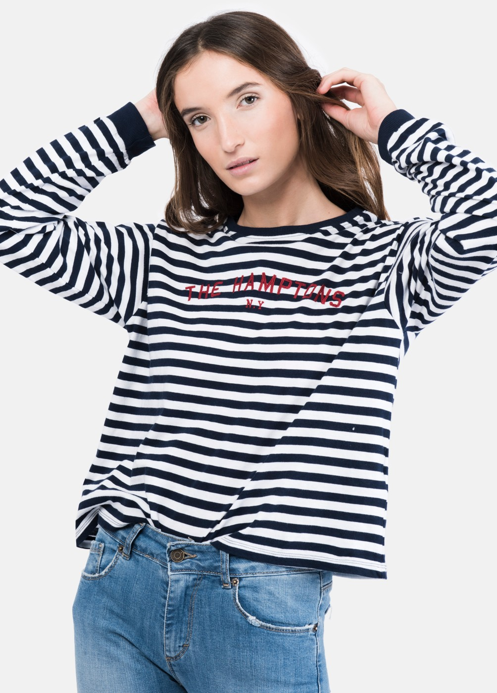 T-shirt Riscas Hamptons