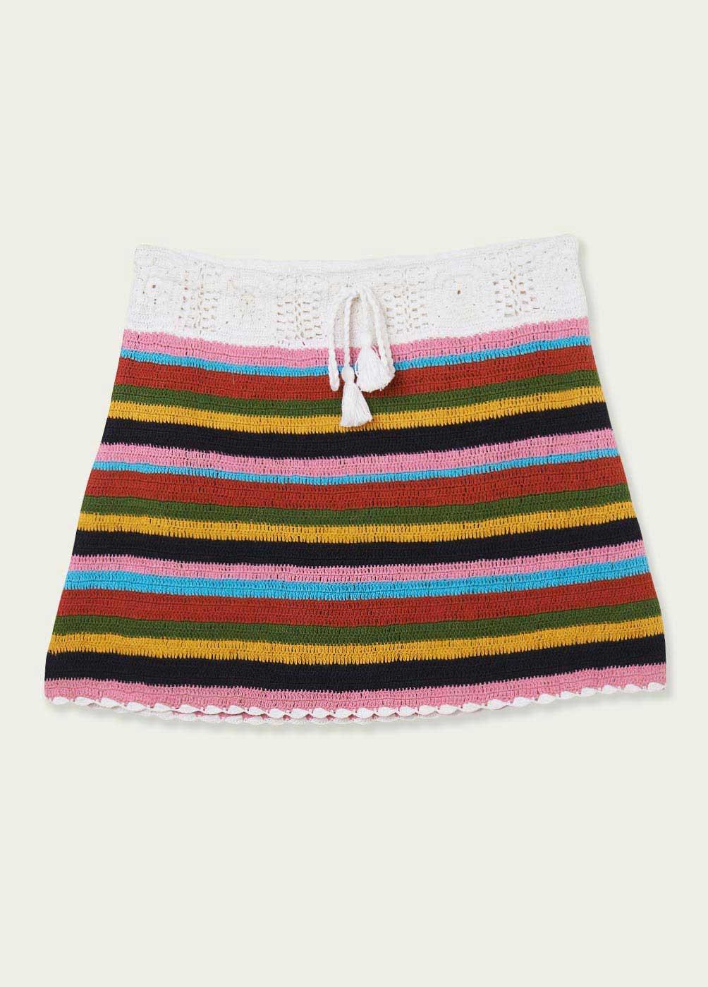 Falda Cuba Crochet Rayas  - 5