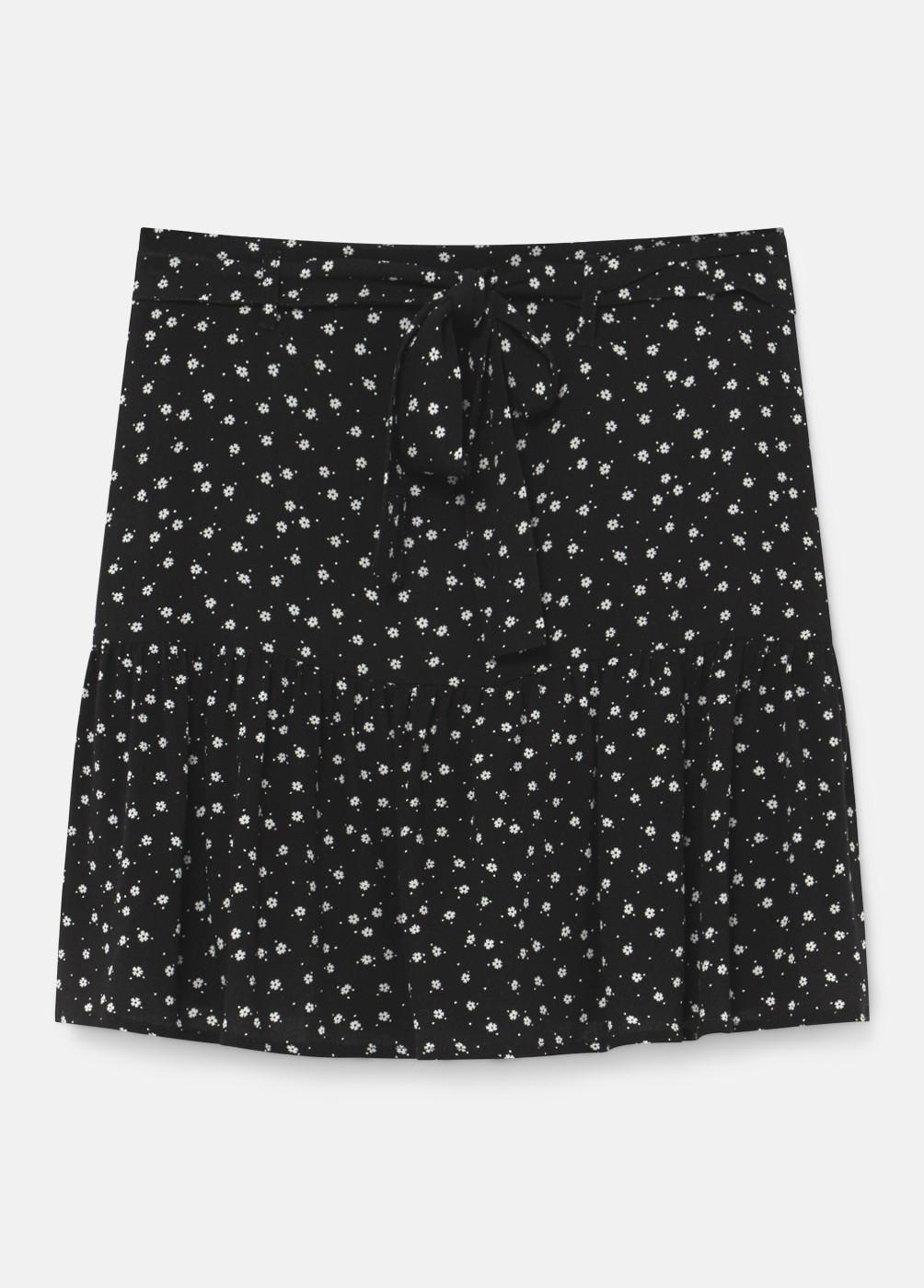 Falda Pantalon Pati Estampada Flores