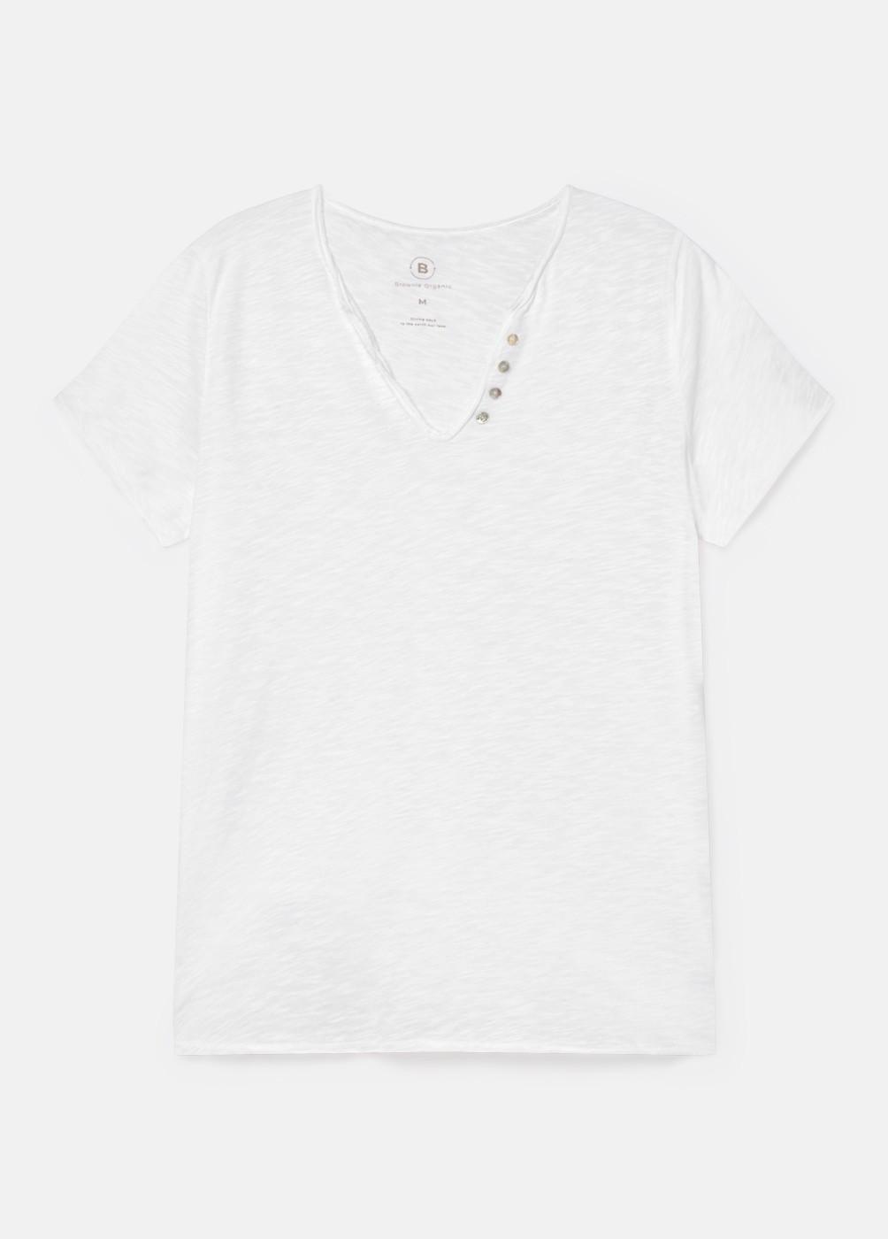 Camiseta Blanca Botones Org
