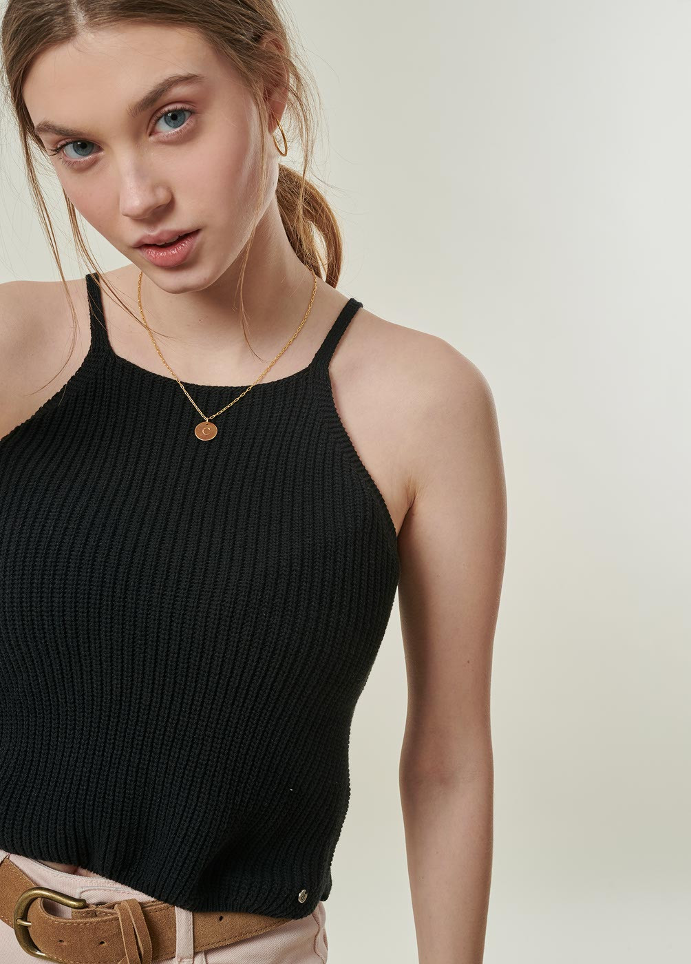 AMBRA HALTER NECK TANK TOP