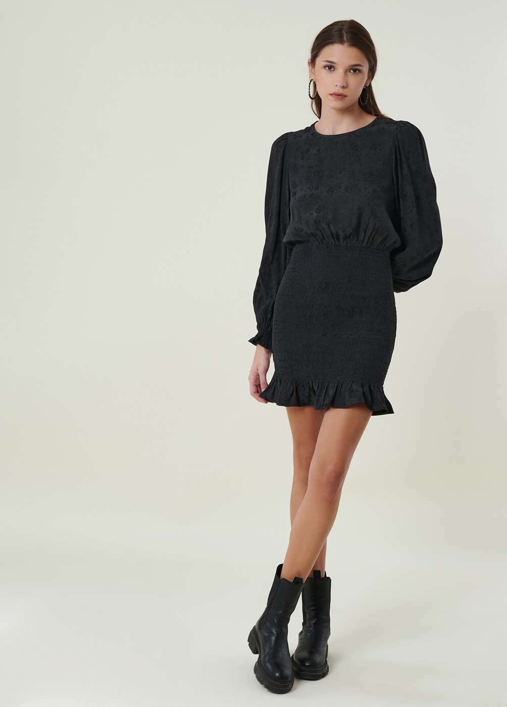 BELLA JACQUARD DRESS
