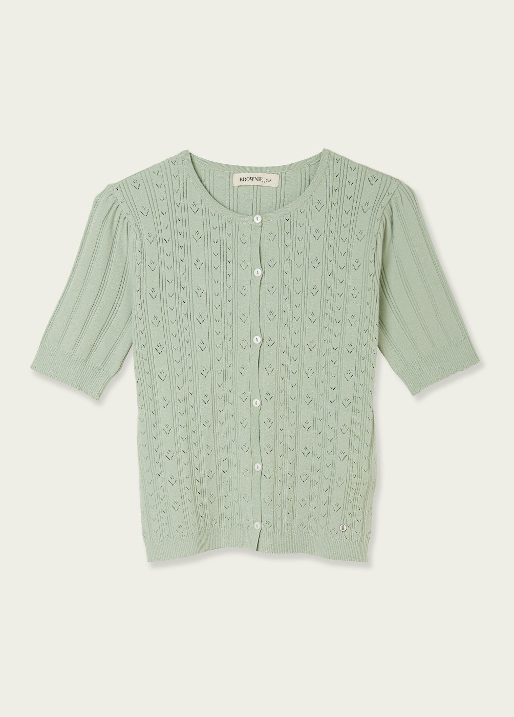 APRIL POINTELLE KNITTED CARDIGAN  - 7