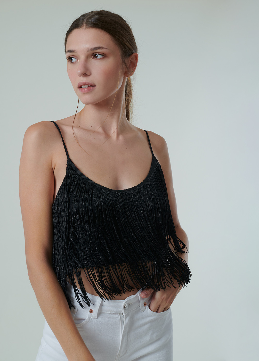 TOP CHER FLECOS BRILLO CROPPED